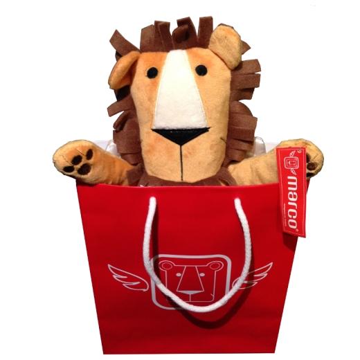 Marco, il leone alato, nella sua borsetta