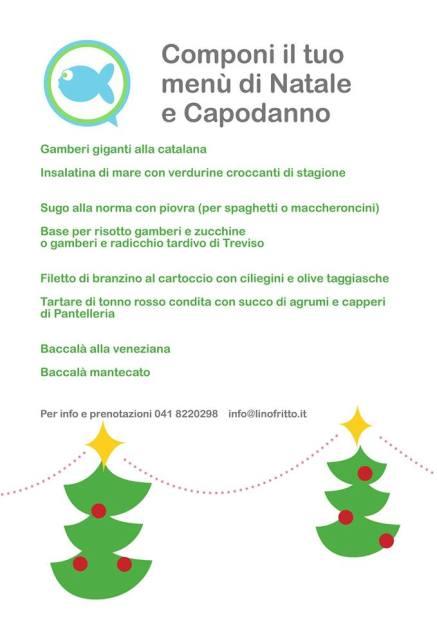 Lino Fritto - Menu per Natale e Capodanno
