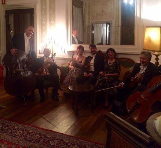 L'orchestra Antonio Vivaldi in relax post concerto | Venice Music Gourmet