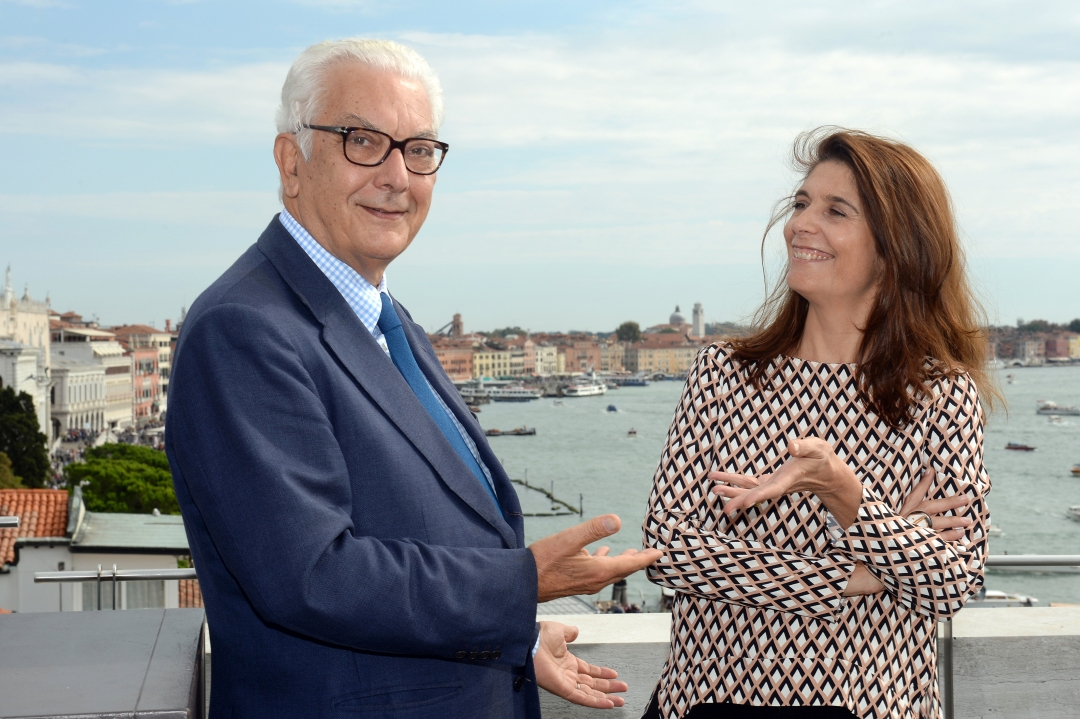 Paolo Baratta e Christine Macel_Photo by Andrea Avezzù_Courtesy La Biennale di Venezia