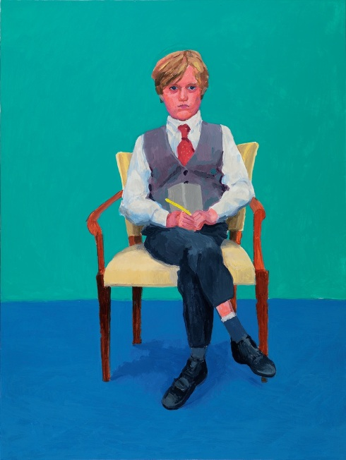 David Hockney Ritratto di Rufus Hale, 23, 24 e 25 Novembre 2015 Acrilico su tela, 121,9 x 91,4 cm © David Hockney; Photo credit: Richard Schmidt