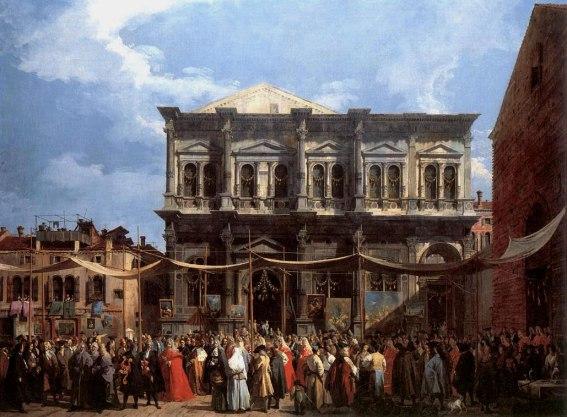 Canaletto - Il giorno della festa di San Rocco