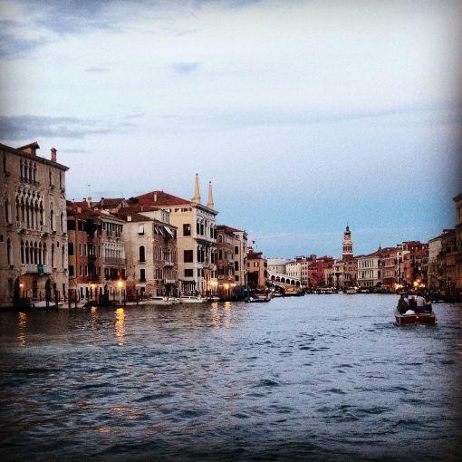 Canal Grande prima del tramonto