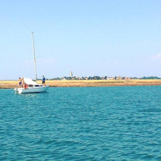 Burano dalla barca