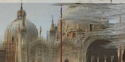 Venezia - Basilica di San Marco riflessa sull''acqua alta